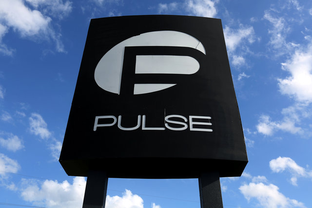 The Pulse nightclub sign is pictured following the mass shooting in Orlando, Florida, US on June 21, 2016. Credit: Reuters