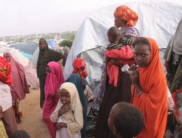 Camps outside Mogadishu during the 2010-12 famine in Somalia. Credit: IPS