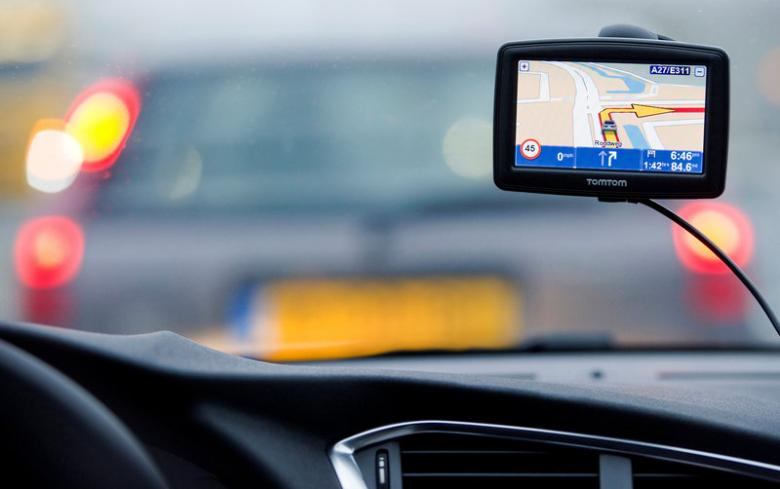 A TomTom navigation device is seen in this photo illustration taken in Amsterdam, Netherlands, February 28, 2012. Credit: Reuters
