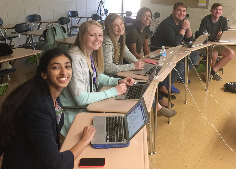 The student journalists who landed the scoop. Credit: Emily Smith/Pittsburg High School/Kansas City Star