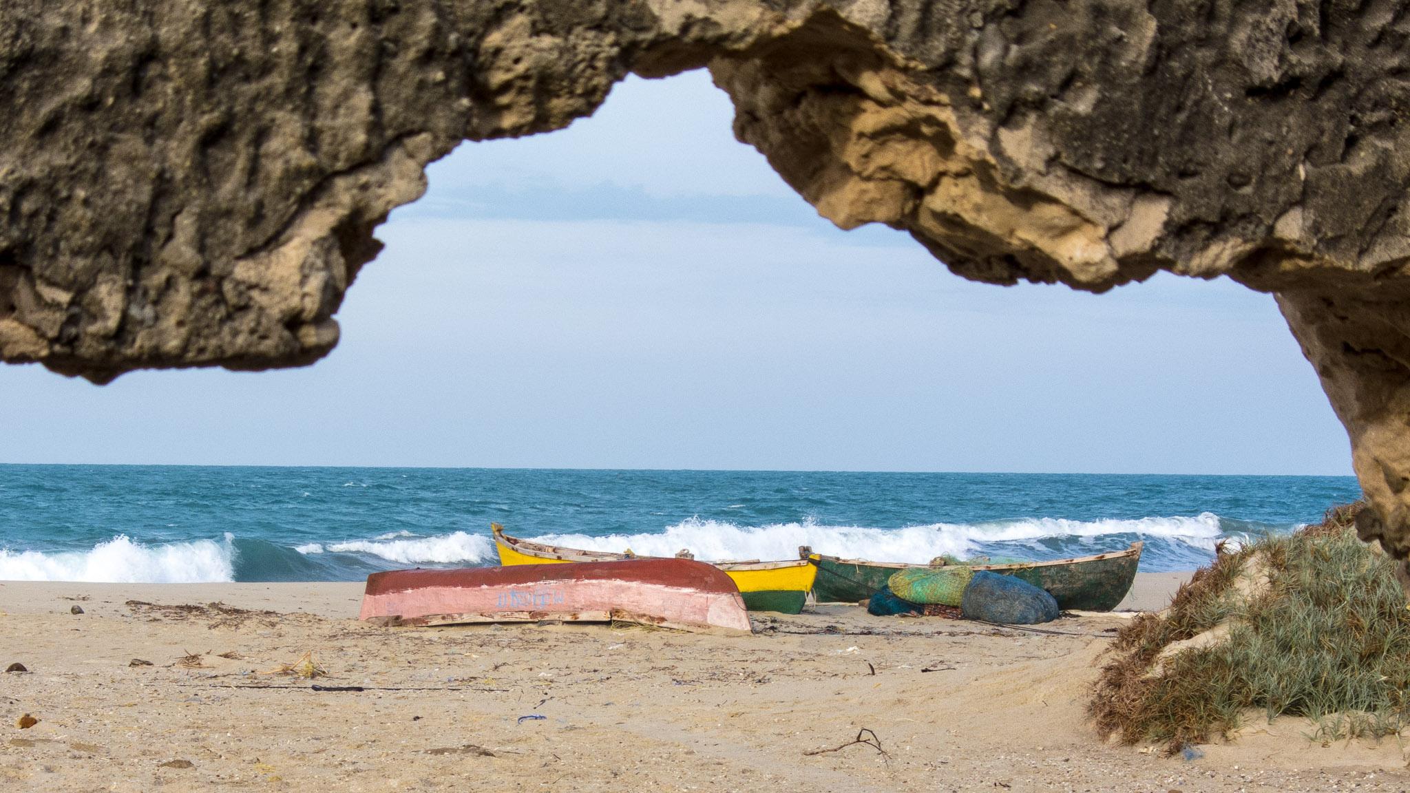 Fishing boats at Dhanushkodi, Tamil Nadu. Credit: mikeprince/Flickr, CC BY 2.0