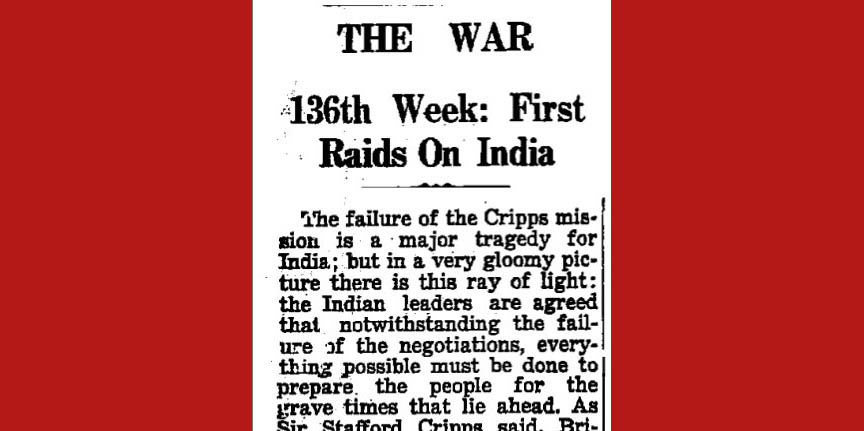 Times of India, April 13, 1942