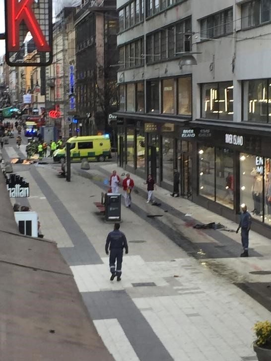 Two people were killed in incident when a truck was driven into a department store in central Stockholm. Credit: Reuters