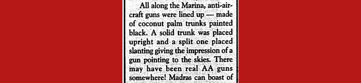 Anna Varki writing in Madras Musings, Vol IX No. 14