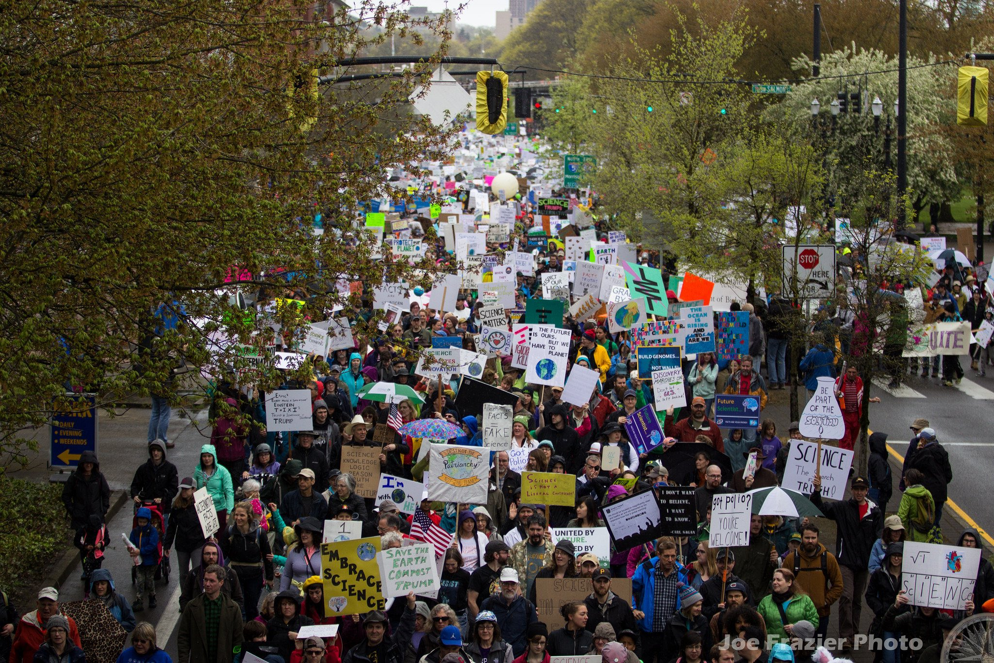 The 'March for Science' underway at Portland, Oregon. Credit: Joe Frazier Photo/Flickr, CC BY 2.0
