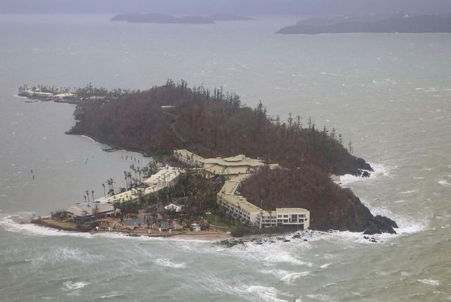A supplied image shows the damage on Daydream Island after Cyclone Debbie passed through the region known as the Whitsundays in Queensland, Australia, March 29, 2017. Credit: Australian Defence Force/Handout via REUTERS
