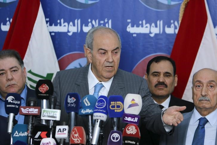 Iraq's Vice President Ayad Allawi speaks to reporters during a news conference in Baghdad March 20, 2016. Credit: Reuters/Khalid Al Mousily/Files