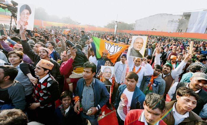 BJP sweeps MCD, AAP comes distant second with 48 seats