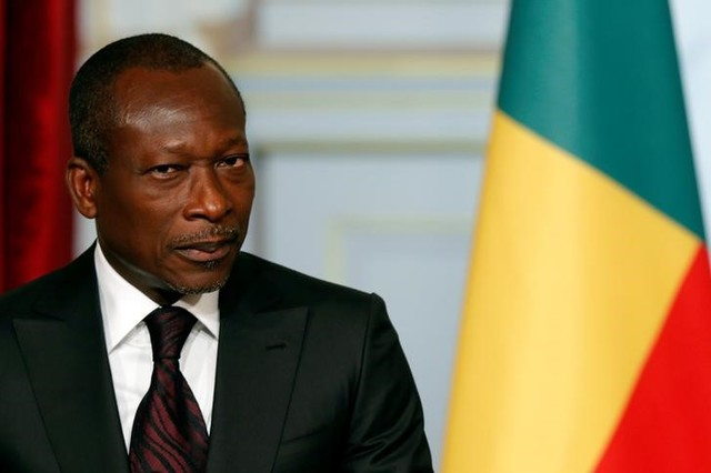 Benin's President Patrice Talon attends a joint declaration with French President at the Elysee Palace in Paris, France, April 26, 2016. Credit: REUTERS/Philippe Wojazer