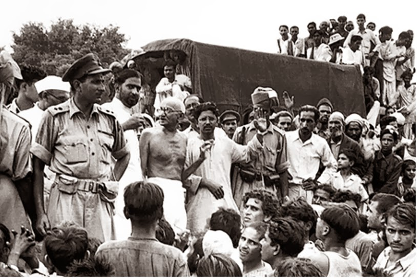 Gandhi in Champaran. Credit: Ebay