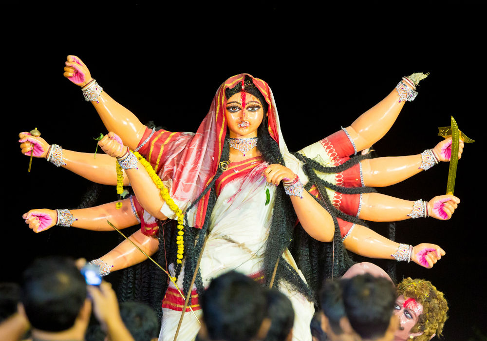 Durga and Rama hardly ever meet in the Bengali tradition. Credit: Kunal Gupta, Flickr CC BY-NC-ND 2.0