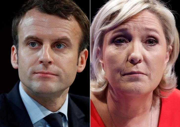 Halting Europe's Populist Wave, Macron Storms Into Runoff to Battle Le Penn