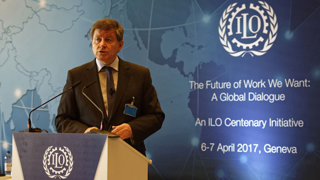 Guy Ryder speaks at the ILO event. Credit: ILO