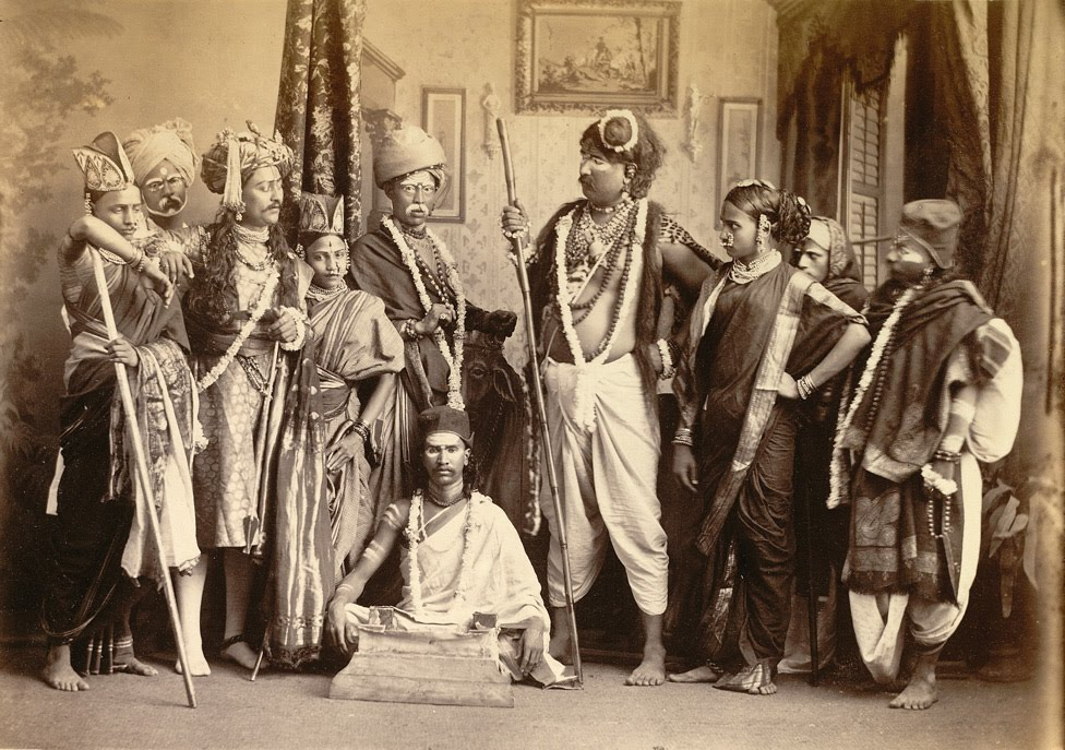 The Indian Theatrical Group Bombay in the 1870s. Courtesy: Old Indian Photos