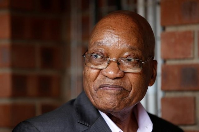 South Africa's President Jacob Zuma reacts during the launch of a social housing project in Pietermaritzburg, South Africa, April 1, 2017. Credit: Reuters/Rogan Ward/File photo
