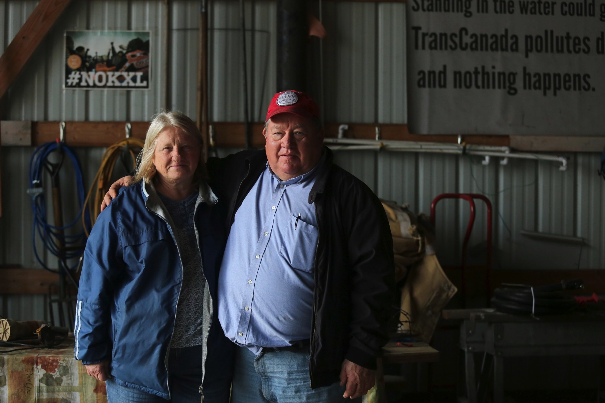 Art and Helen Tanderup are against the proposed Keystone XL Pipeline that would cut through the farm where they live near Neligh, Nebraska, US April 12, 2017. Credit: Reuters/Lane Hickenbottom
