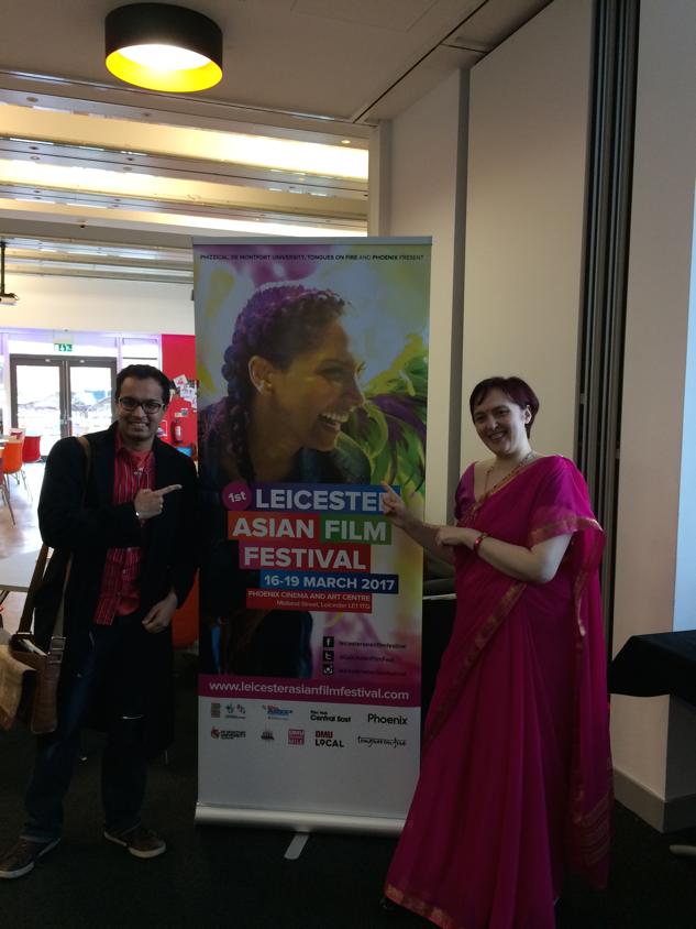 Daneesh Majid with LAFF organiser Monica Acciari. Courtesy: Daneesh Majid
