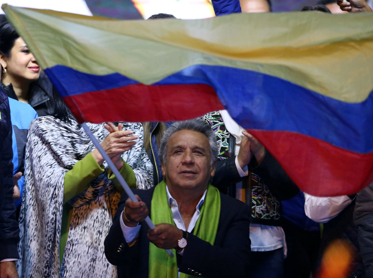 Ecuador's president elect Lenin Moreno. Credit: Reuters
