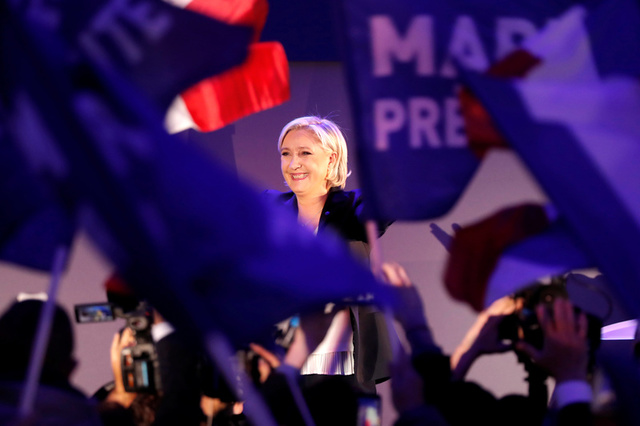 Le Pen's French Election Campaign Targets Far Left and Right