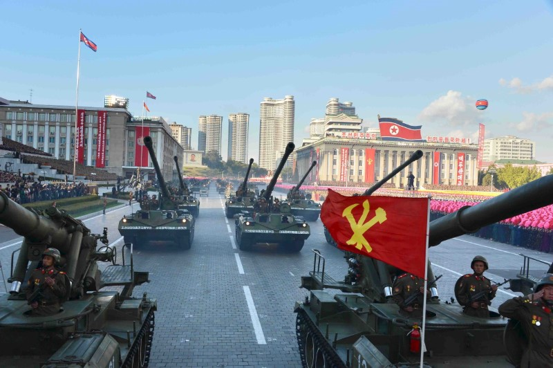 North Korean military participate in the celebration of the 70th anniversary of the founding of the ruling Workers' Party of Korea. Credit: KCNA/Files