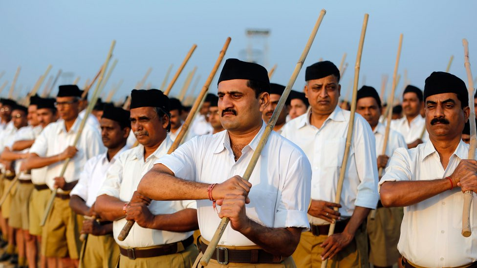 The RSS is creating false binaries of national and anti-national. Credit: Reuters/Files