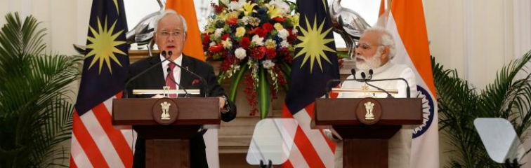 What Was Left Unsaid During Malaysian PM Najib Razak's Visit to India