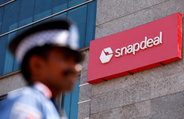 A private security gurad stands at a gate of Snapdeal headquarters in Gurugram on the outskirts of New Delhi, India, April 3, 2017. Credit: Reuters