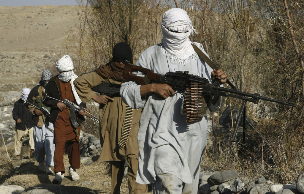 File photo of Taliban fighters posing with guns in an undisclosed location in Afghanistan. Credit: Reuters
