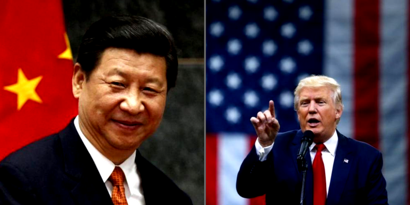 Xi Jinping and Donald Trump. Credit: Reuters