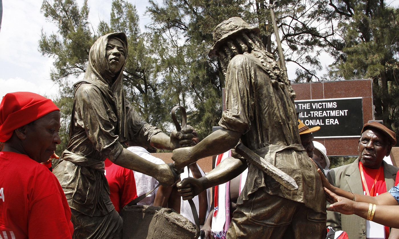 Unusually, the British government issued an apology for abuses during the so called Mau Mau uprising in Kenya: 'The British government recognises that Kenyans were subjected to torture and other forms of ill-treatment at the hands of the colonial administration.' Credit: Rex/Aeon