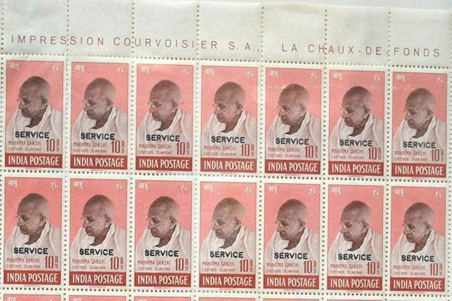 A set of four rare stamps featuring the portrait of Mahatma Gandhi has been sold for record 500,000 pounds at an auction in the UK which its seller said is the highest price ever paid for Indian stamps. (representative image: PTI)