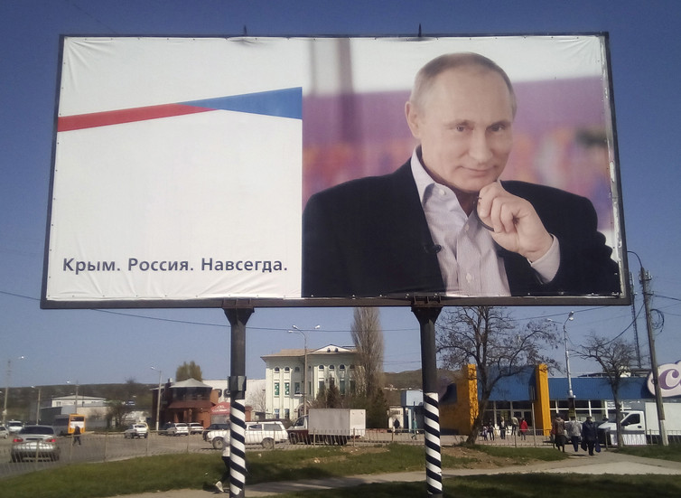 Vladimir Putin's plans for Russia do not stop at Crimea. Andrew Osborn/Reuters