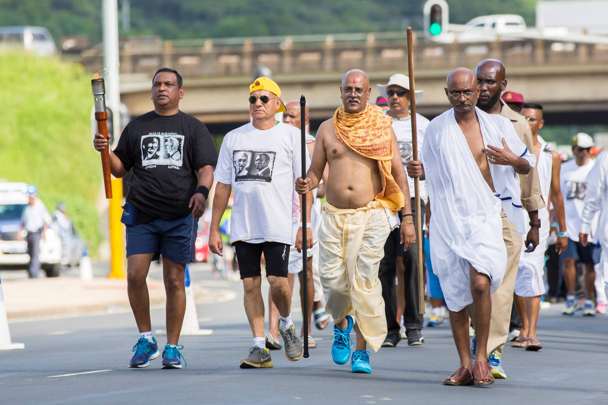 Marching in South Africa's Durban in Memory of Gandhi