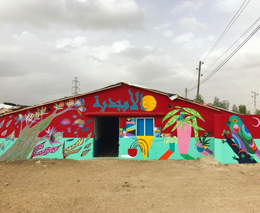 Brazilian Graffiti Artists and Young Syrians Are Painting Refugee Camp Walls Together