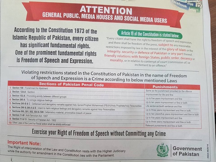 The government has been specifically targeting social media in advertisements. Credit: Altaf Khan