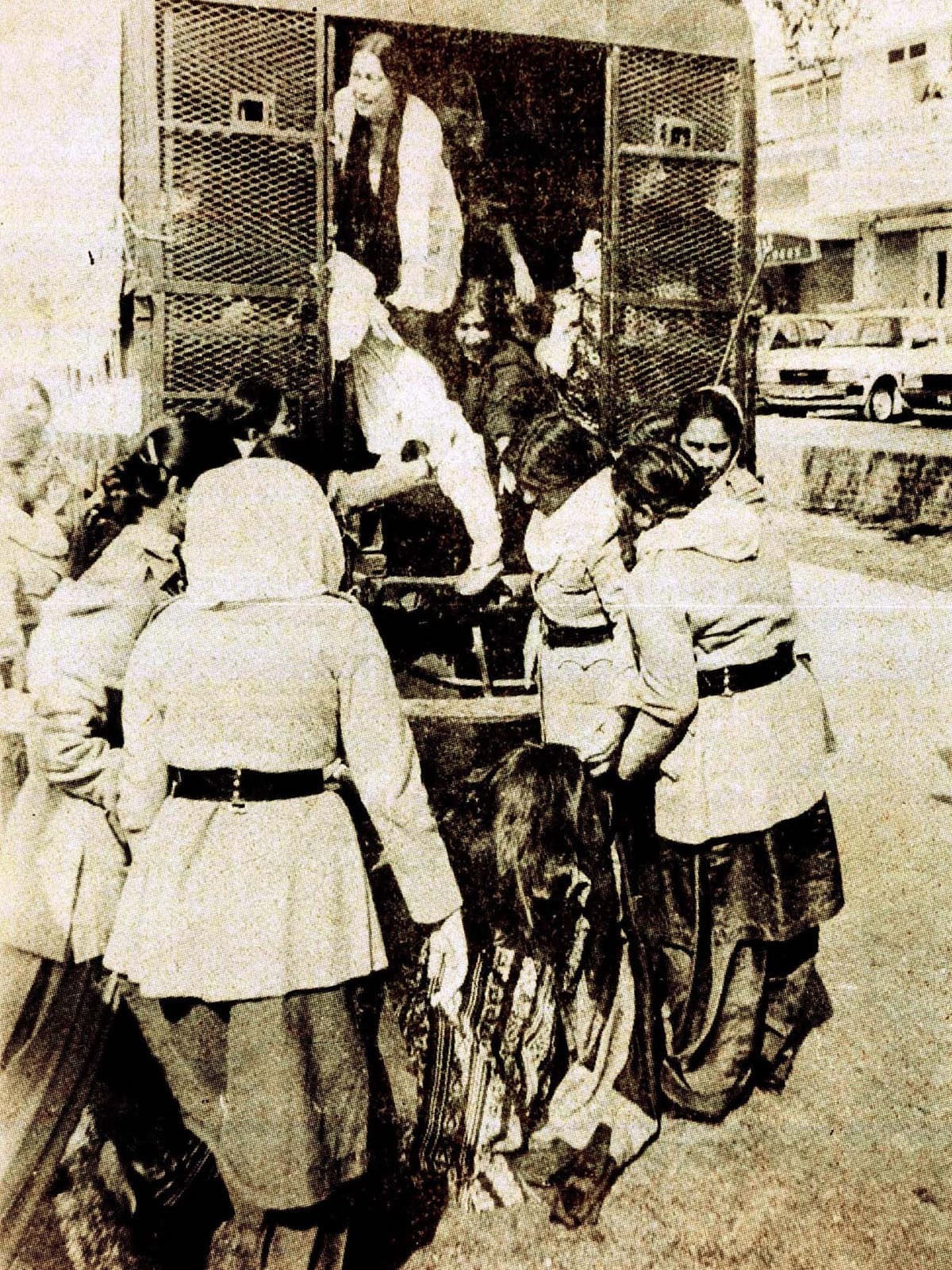 Female protesters being arrested during Zia's regime. Credit: Herald archives