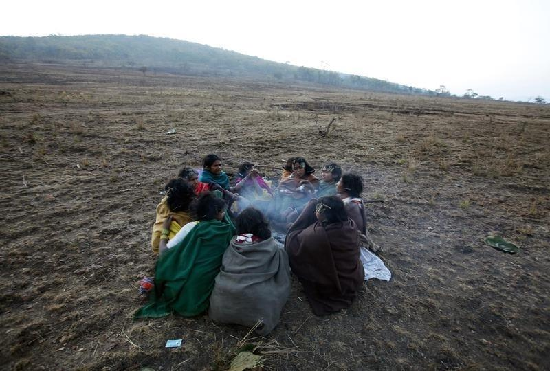 Women from the Dongria Kondh tribe gather on top of the Niyamgiri mountain near Lanjigarh in Odisha February 21, 2010. The Kondh, from Odisha are meant to be protected under the PESA Act. Credit: Reinhard Krause/Reuters/Files