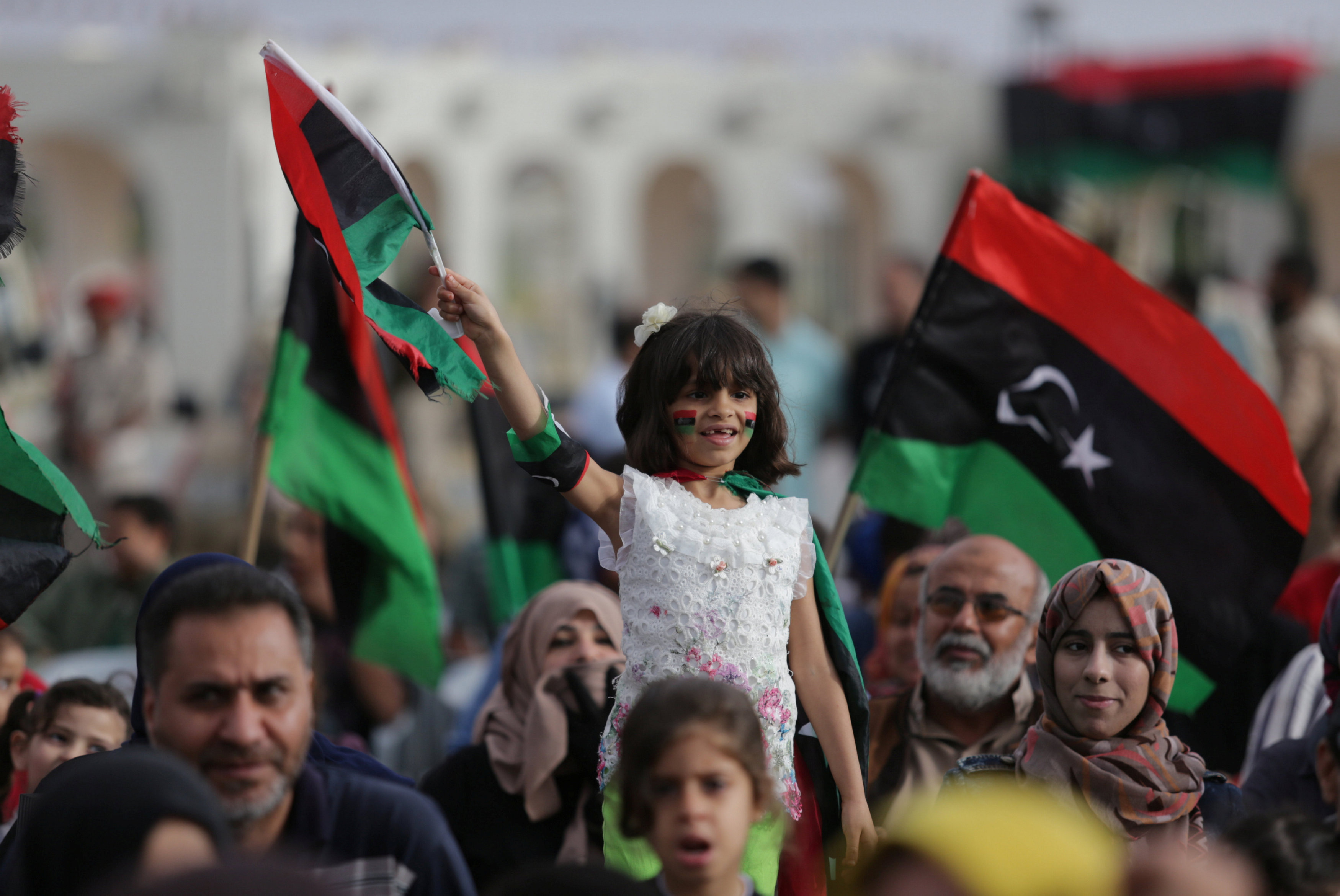 Libyan Commander Stages Military Parade on Benghazi Campaign Anniversary
