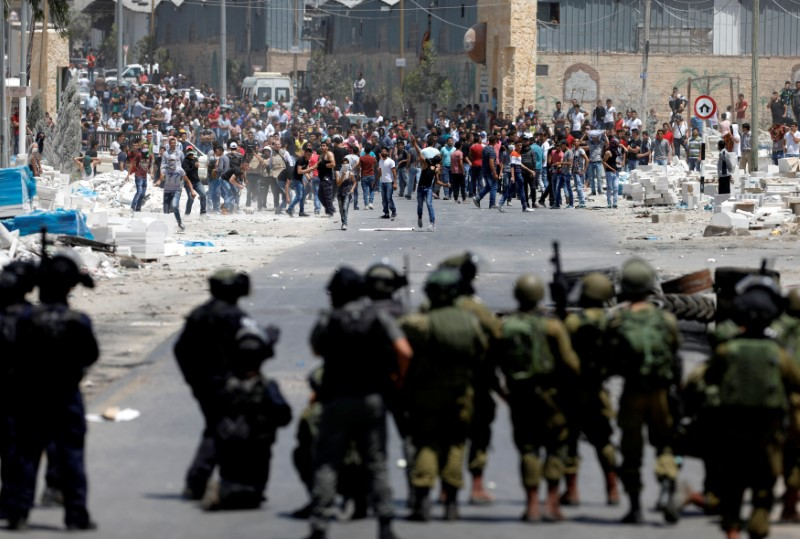 Clash Between Palestinian Protesters and Israeli Forces in West Bank