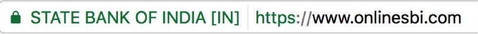 EV certificate in Chrome.
