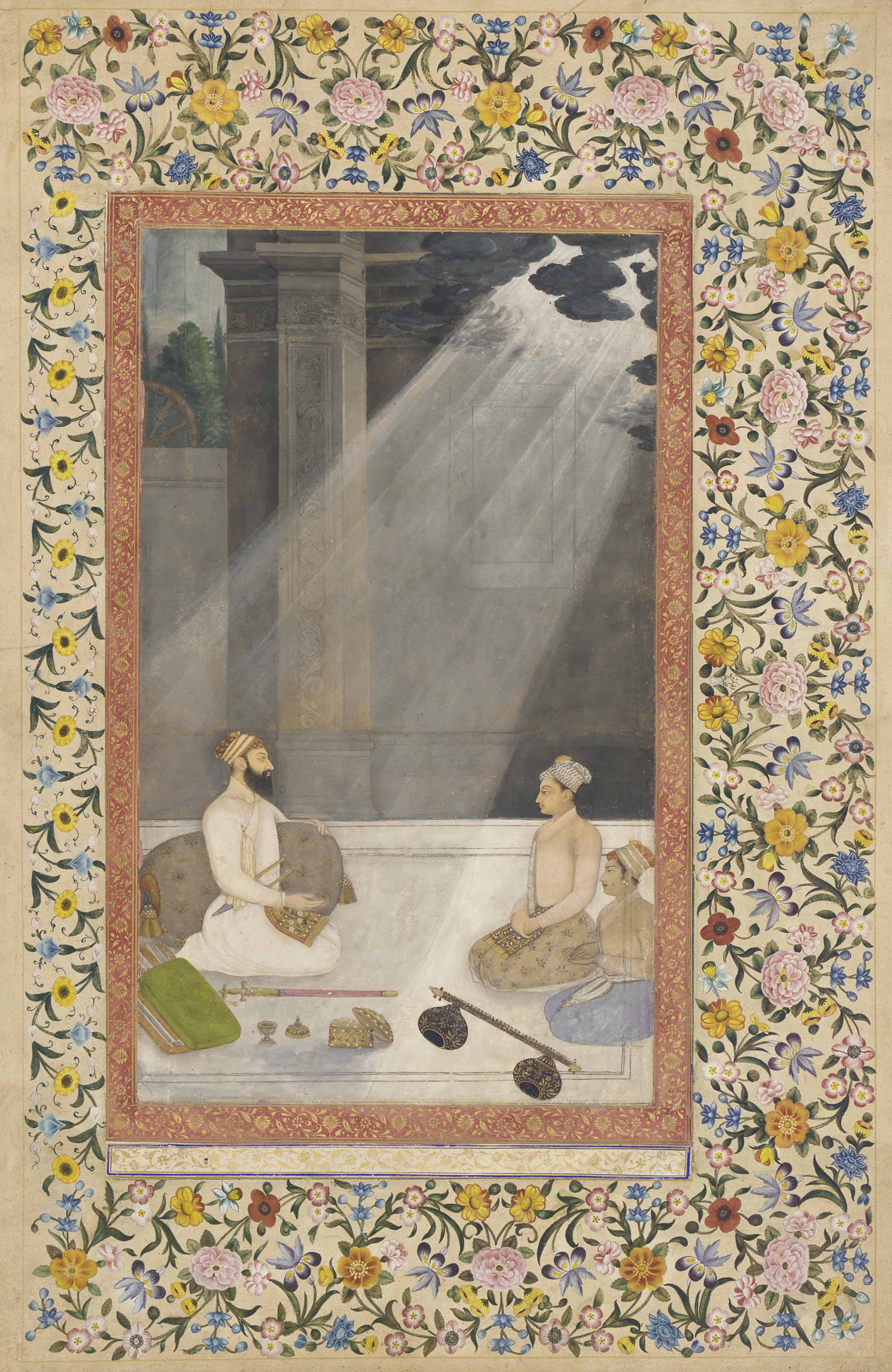 Aurangzeb in a Shaft of Light, from the St Petersburg Album, attributed to Hunhar, circa 1660. Courtesy: Stanford University Press