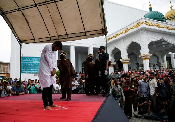 Indonesia: Two Gay Men Publicly Caned for Having Sex