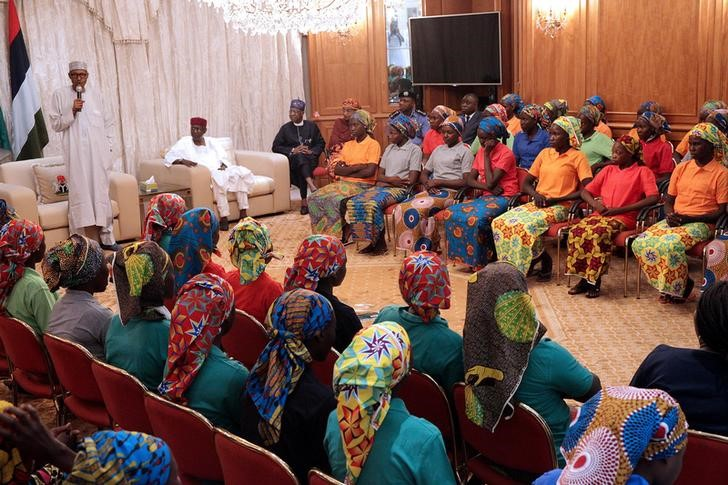 Nigerian President Buhari Welcomes Freed Chibok Girls