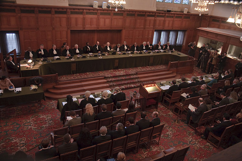 A public hearing at the International Court of Justice where Kulbhushan Jadhav's case is due to be heard. Credit: Wikimedia Commons