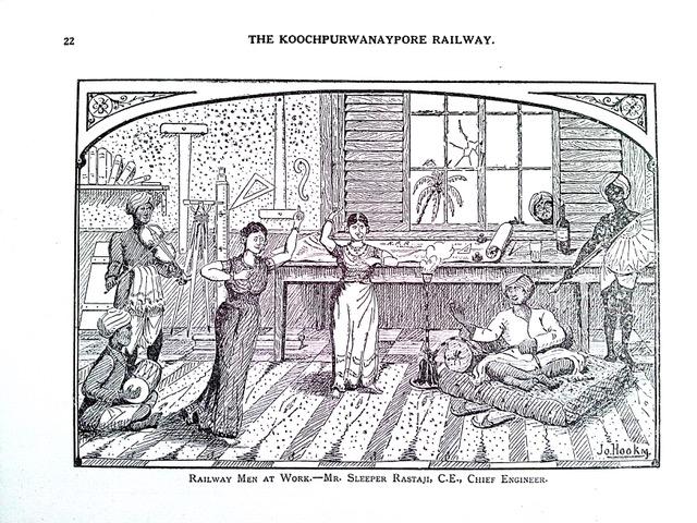'Railway Men at Work'. Source: The Koochpurwanaypore Swadeshi Railway, by Jo. Hookm