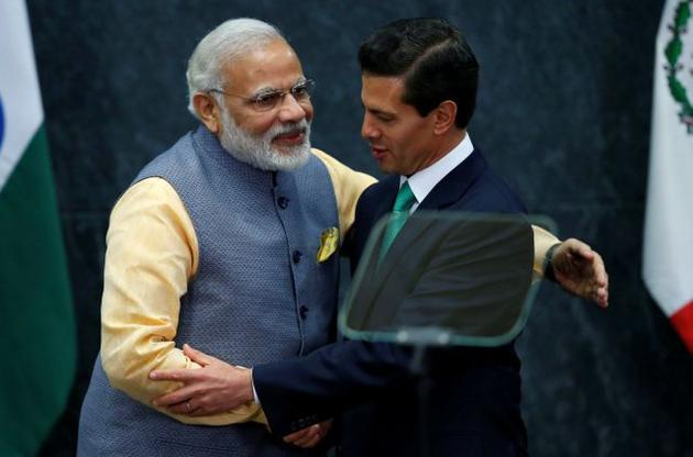 Prime Minister Narendra Modi with Mexican President Enrique Pena Nieto. Credit: Reuter/Files
