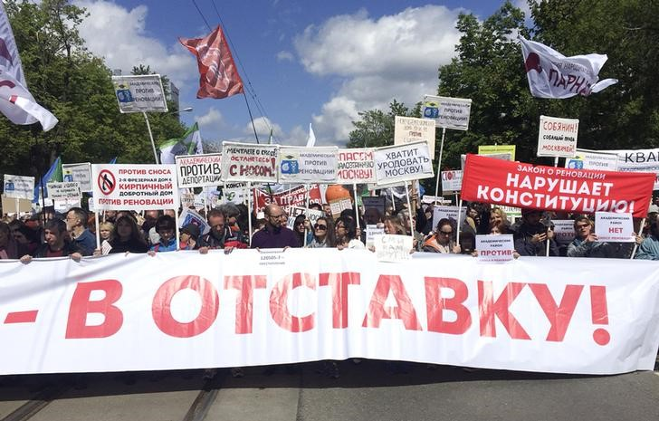 Moscow: Thousands Protest Against Housing Resettlement, but Fewer Attend