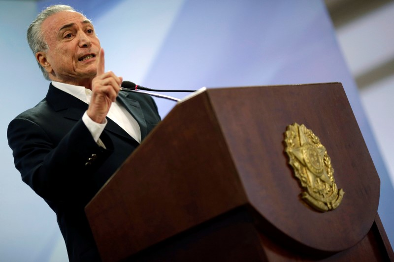 Brazil's President Temer Reviles Bribe Allegations by Meat Titans
