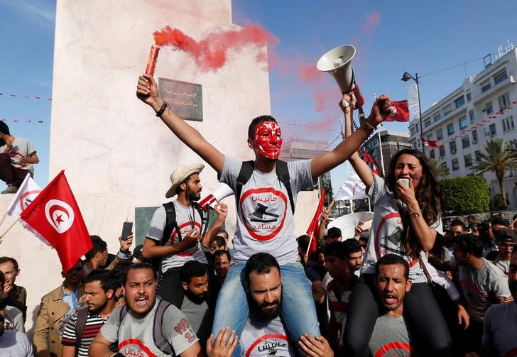 In Tunisia, Thousands March to Protest Corruption Amnesty Law