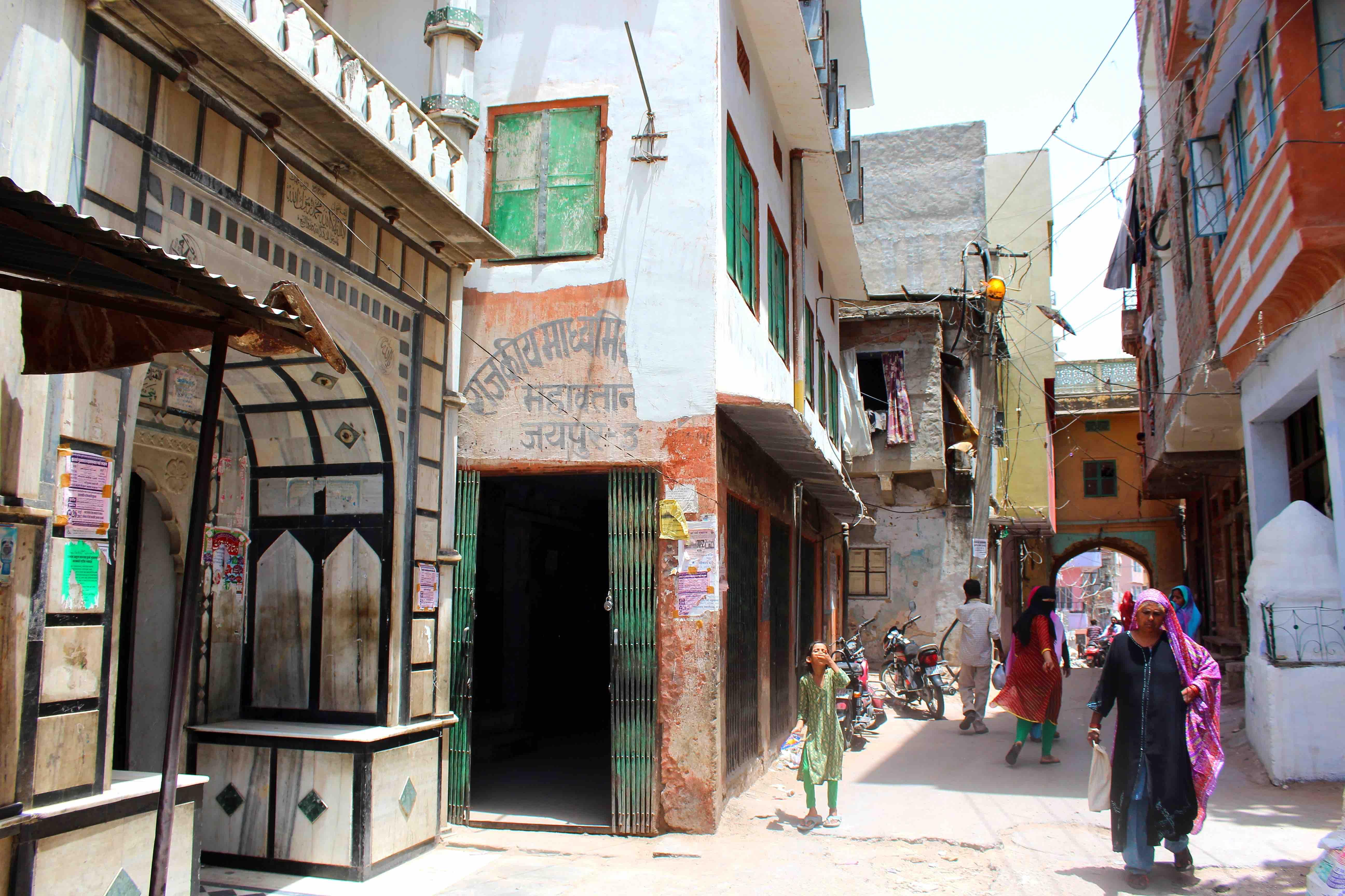 An Urdu-medium school in Mahawatan mohalla, Jaipur. Credit: Shruti Jain